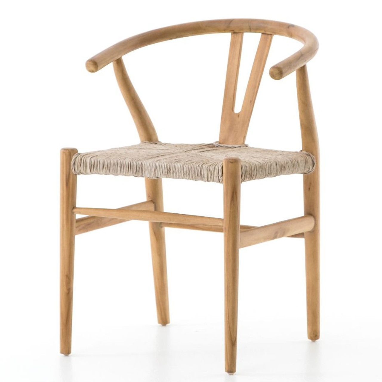 Muestra Natural Teak Wood Woven Wicker Dining Chair | Zin Home   Fourhands