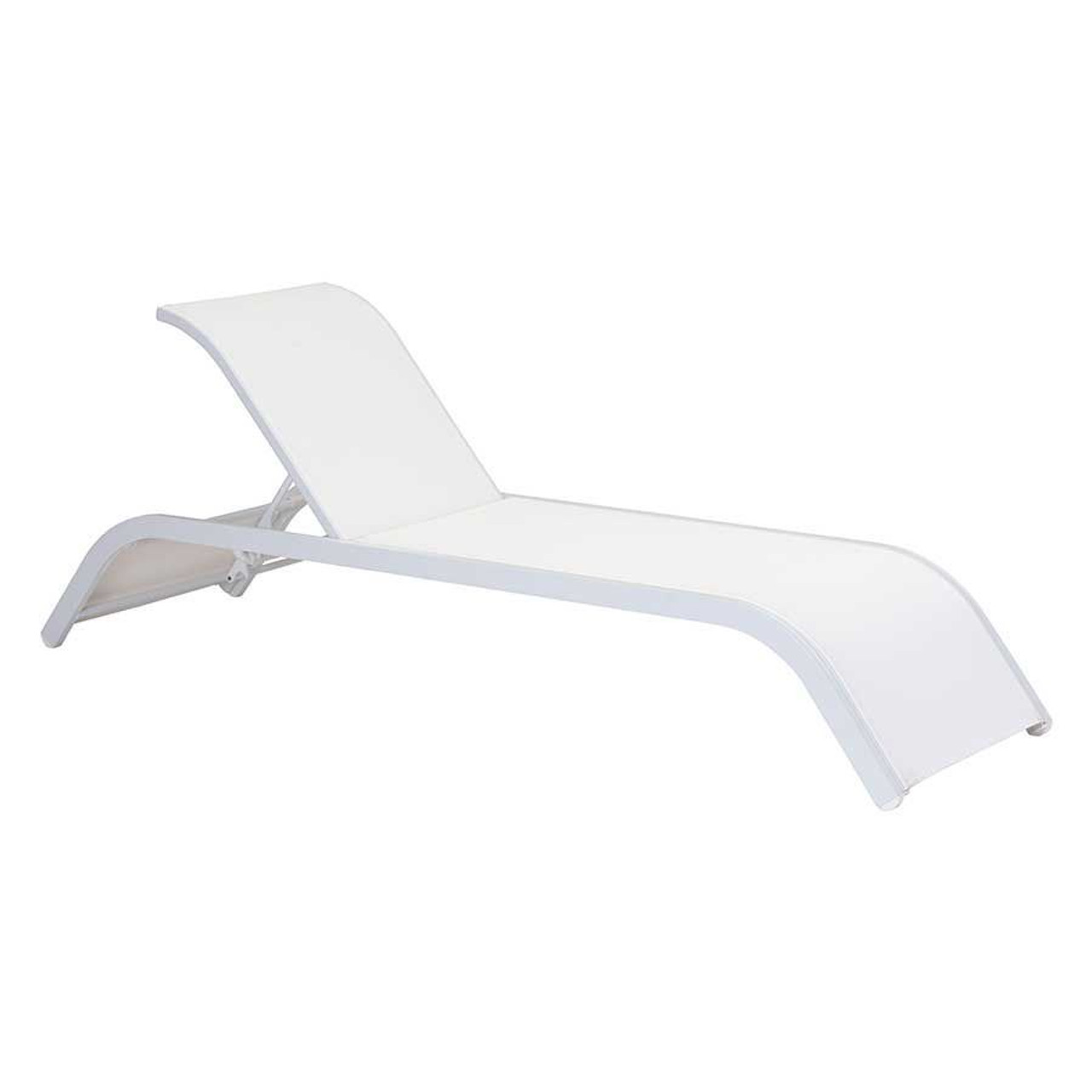 Sun Beach White Chaise Lounge Zin Home