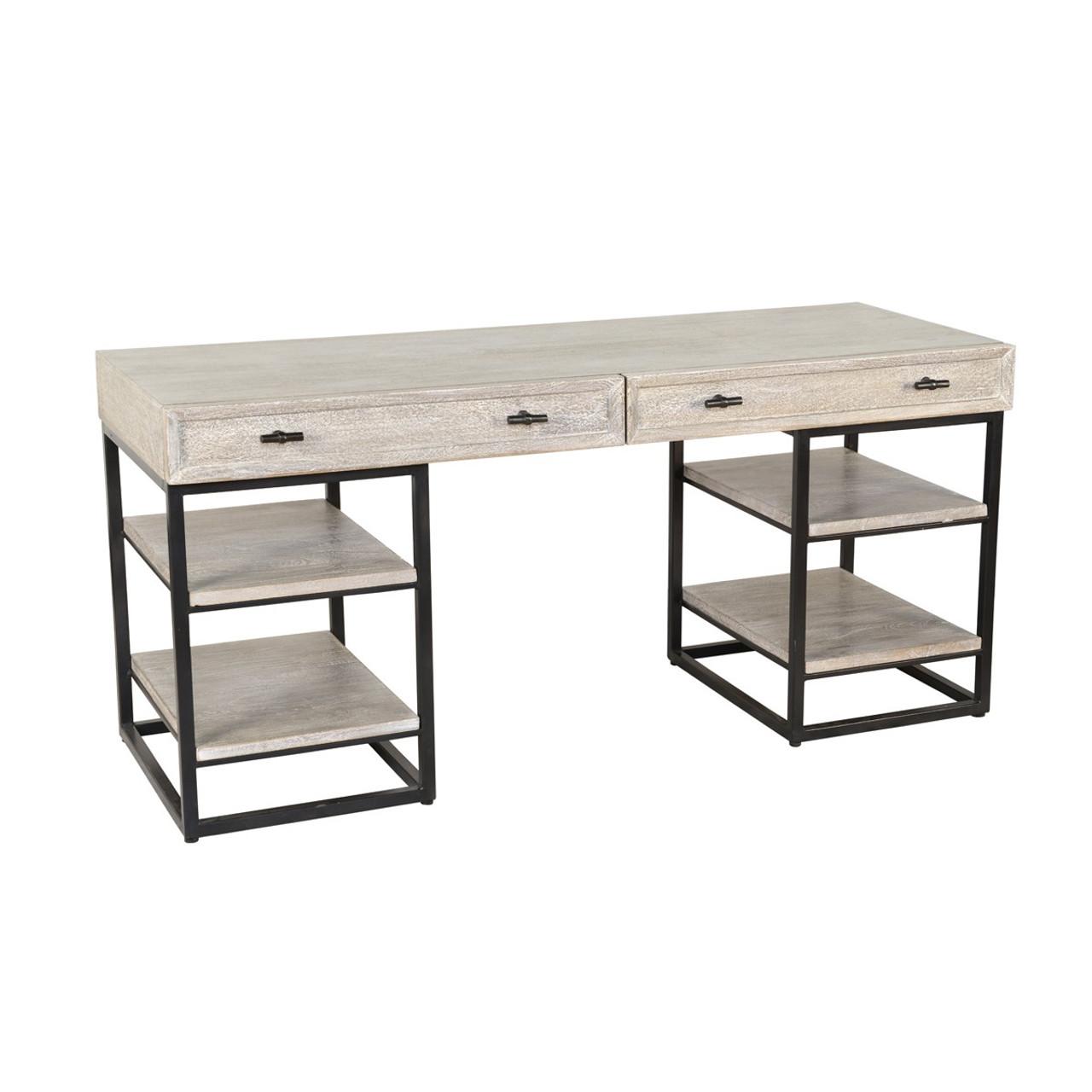 Marvelous Marabella Solid Wood Whitewash 2 Drawer Desk Download Free Architecture Designs Scobabritishbridgeorg