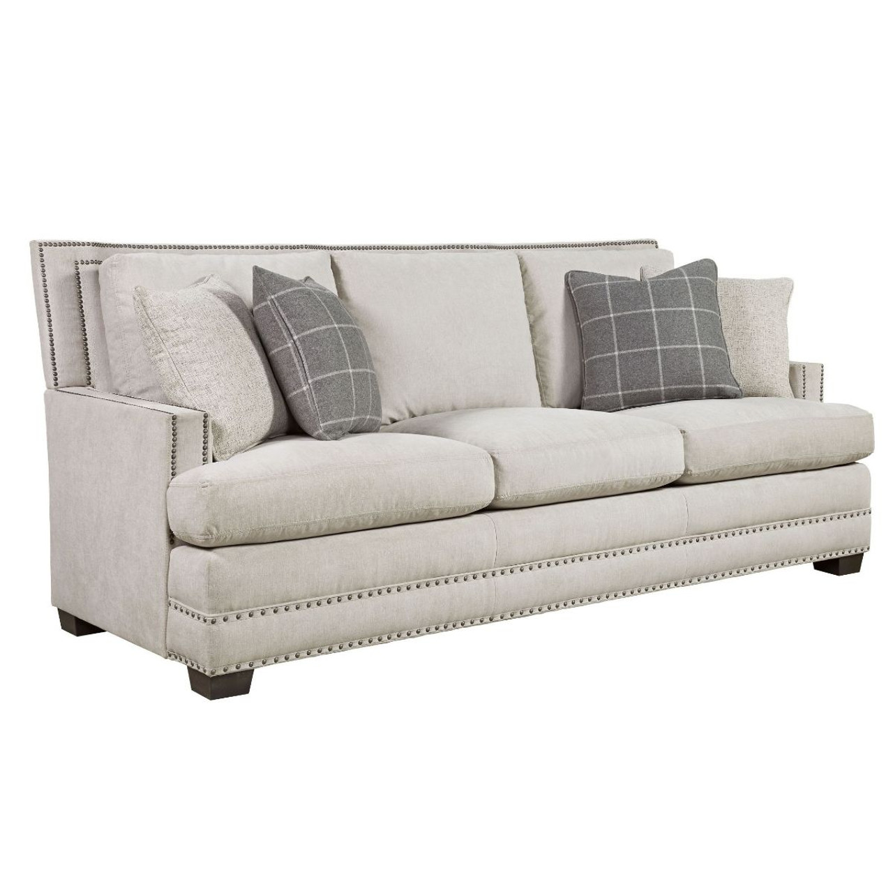 Franklin Upholstered 3-Seat Sofa with Nailheads