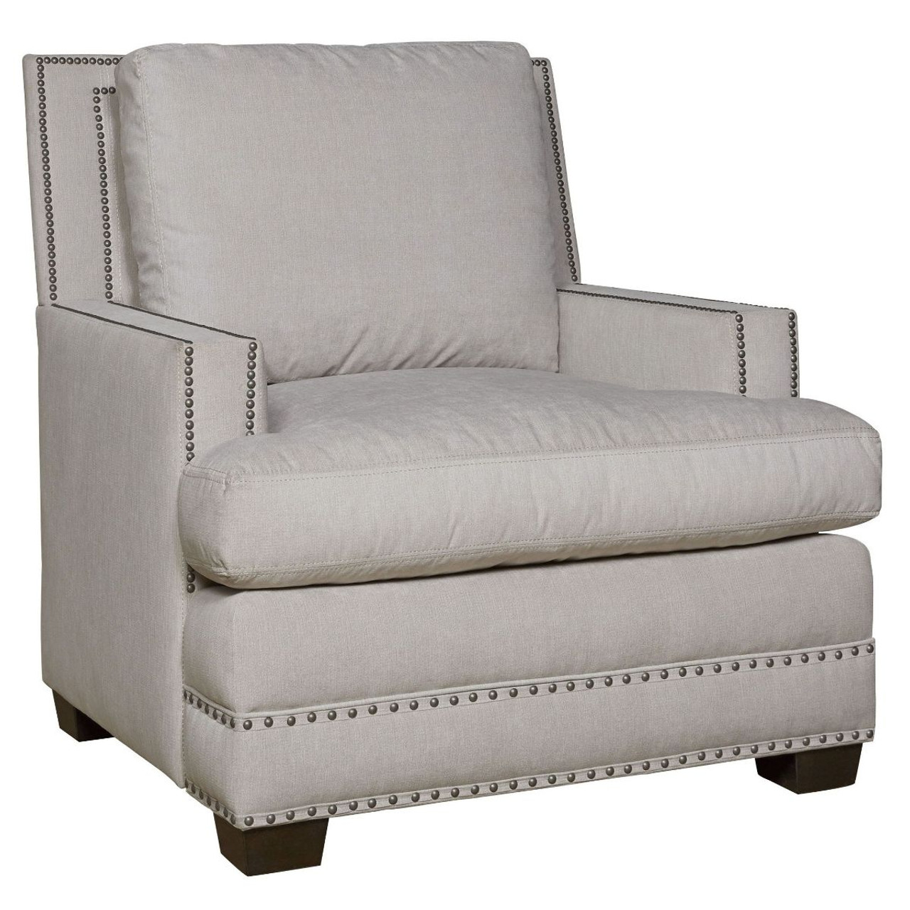 Astounding Franklin Upholstered Accent Chair With Nailheads Gmtry Best Dining Table And Chair Ideas Images Gmtryco