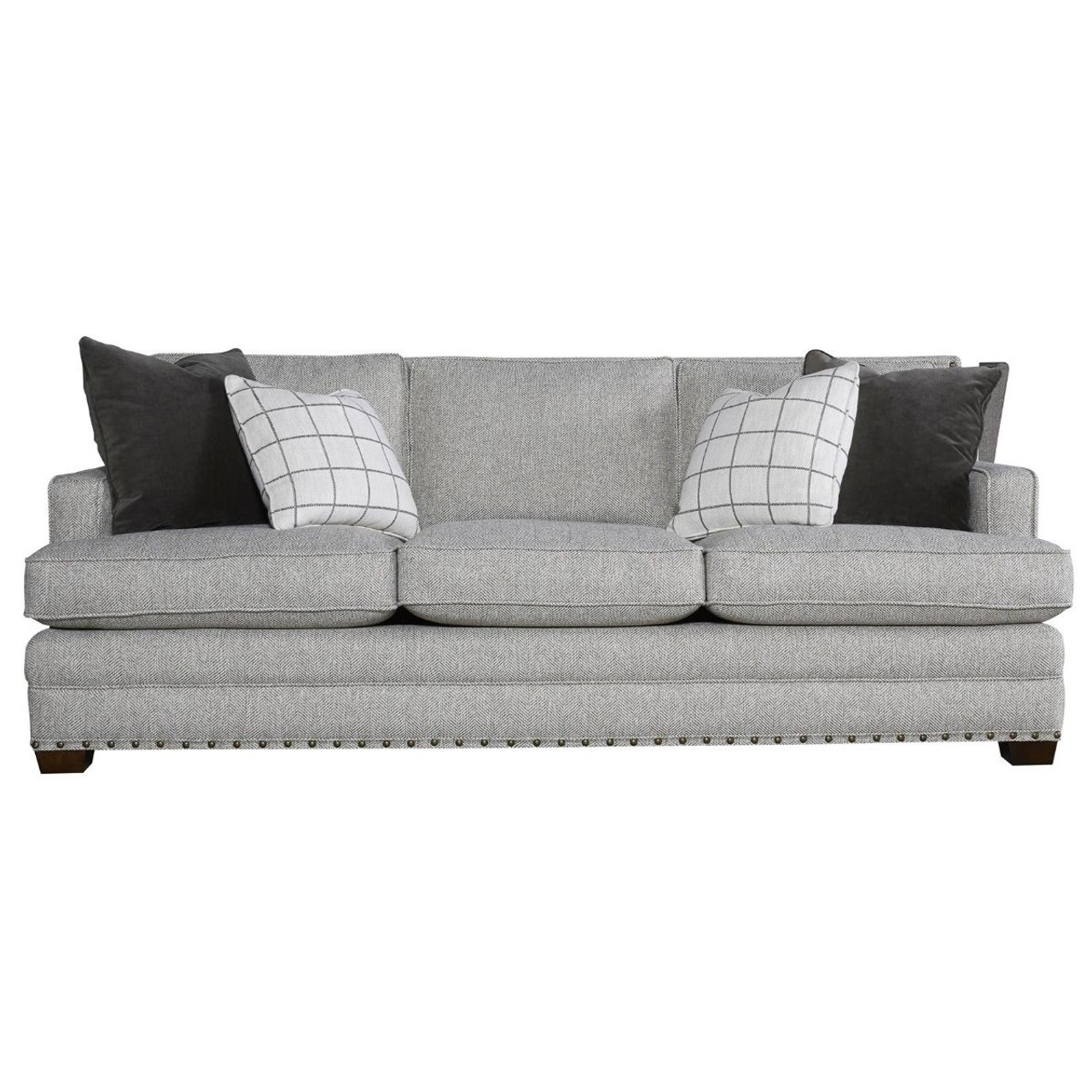 Riley Upholstered 3-Seat Sofa with Nailheads | Zin Home