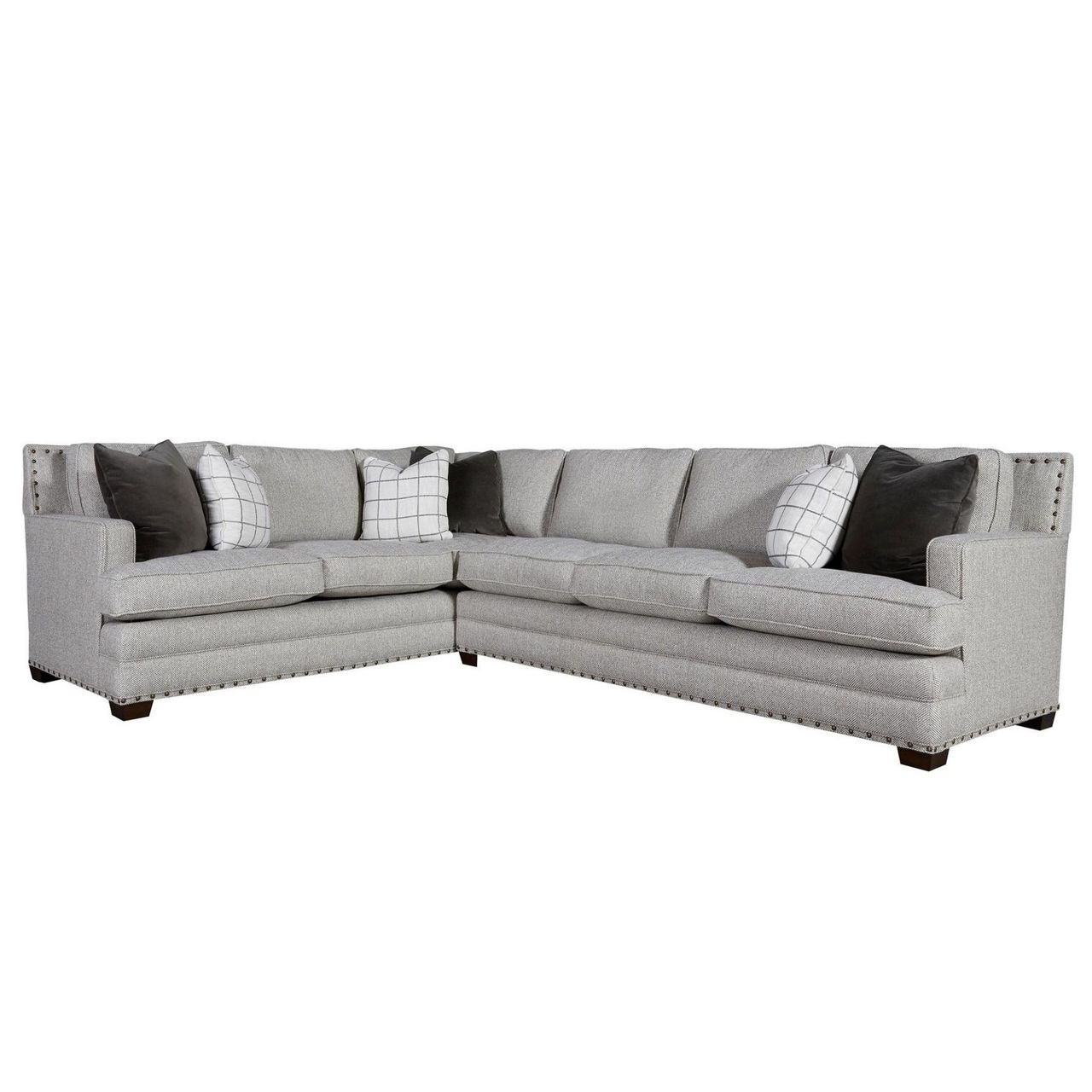 Super Riley 2 Piece Sectional Sofa With Nailheads Laf Ibusinesslaw Wood Chair Design Ideas Ibusinesslaworg