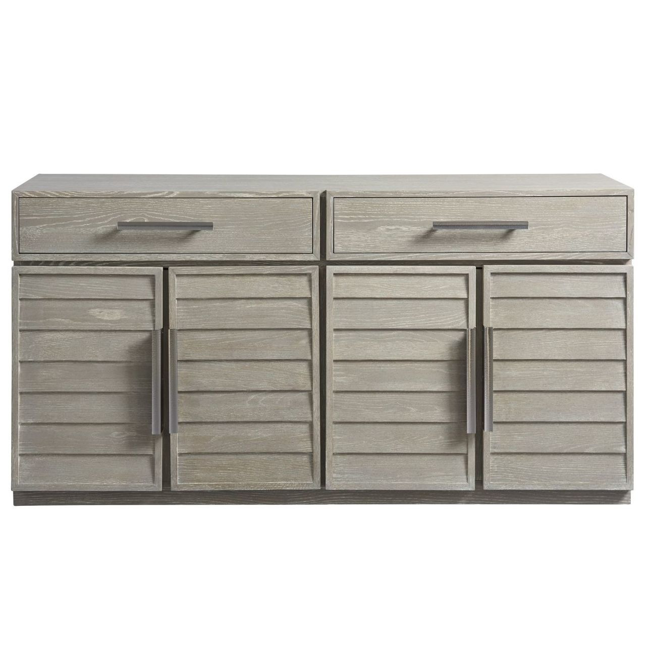 Coastal Zephyr Grey Louvered Sideboard Credenza 70