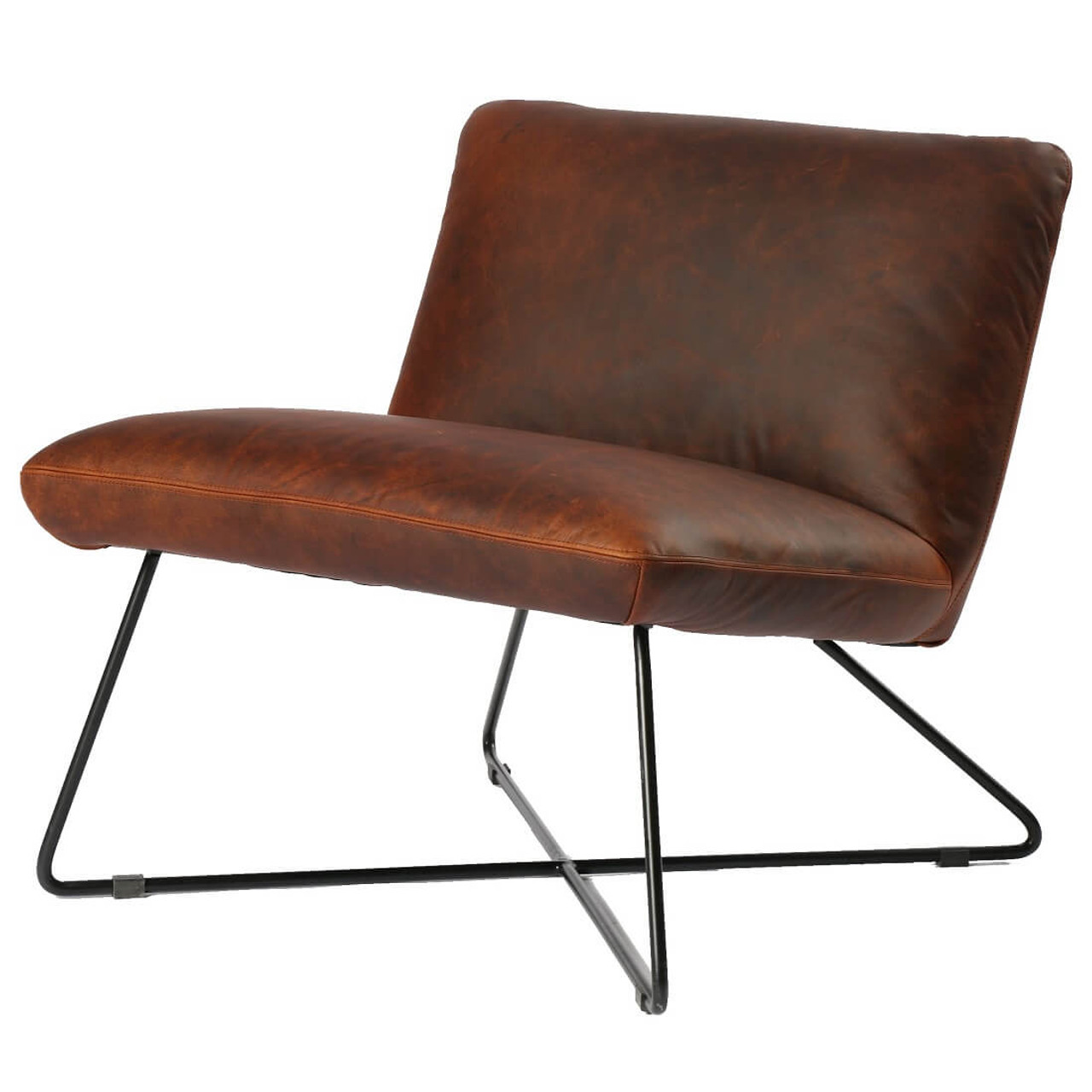 Miraculous District Copper Leather Lounge Chair Andrewgaddart Wooden Chair Designs For Living Room Andrewgaddartcom