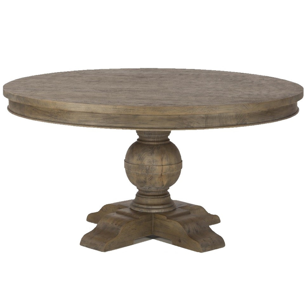 French Urn Solid Wood Pedestal Round Dining Table 72\