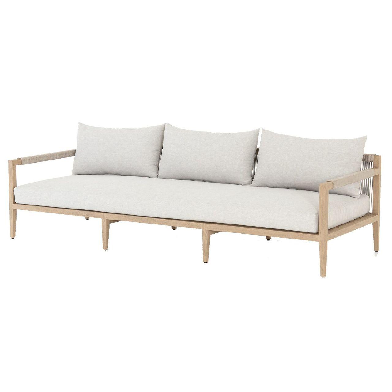 Sherwood Natural Teak Outdoor 3 Seater Sofa 93\