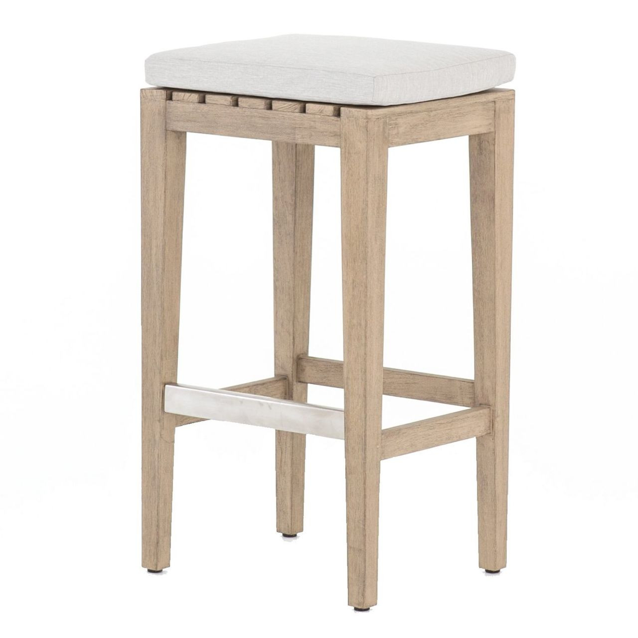 Swell Dale Natural Teak Outdoor Bar Stool Bralicious Painted Fabric Chair Ideas Braliciousco