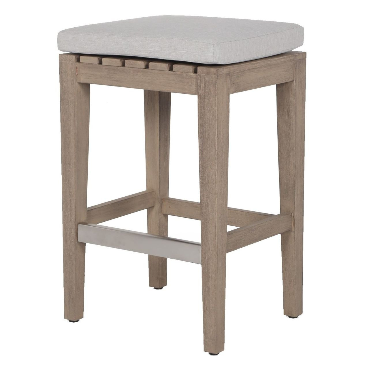 Super Dale Natural Teak Outdoor Counter Stool Bralicious Painted Fabric Chair Ideas Braliciousco