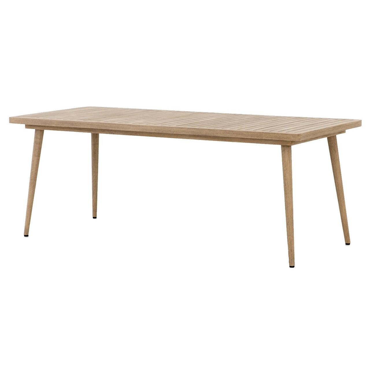 Hansen Natural Teak Wood Tapered Outdoor Dining Table 79 Zin Home