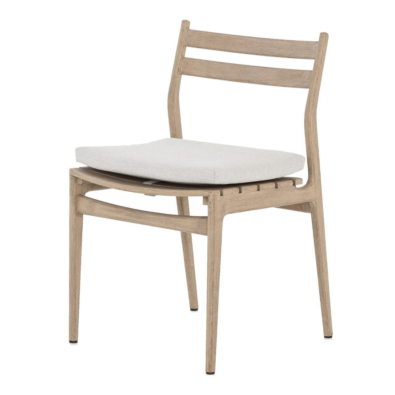 Atherton Brown Teak Outdoor Dining Chair Zin Home Fourhands