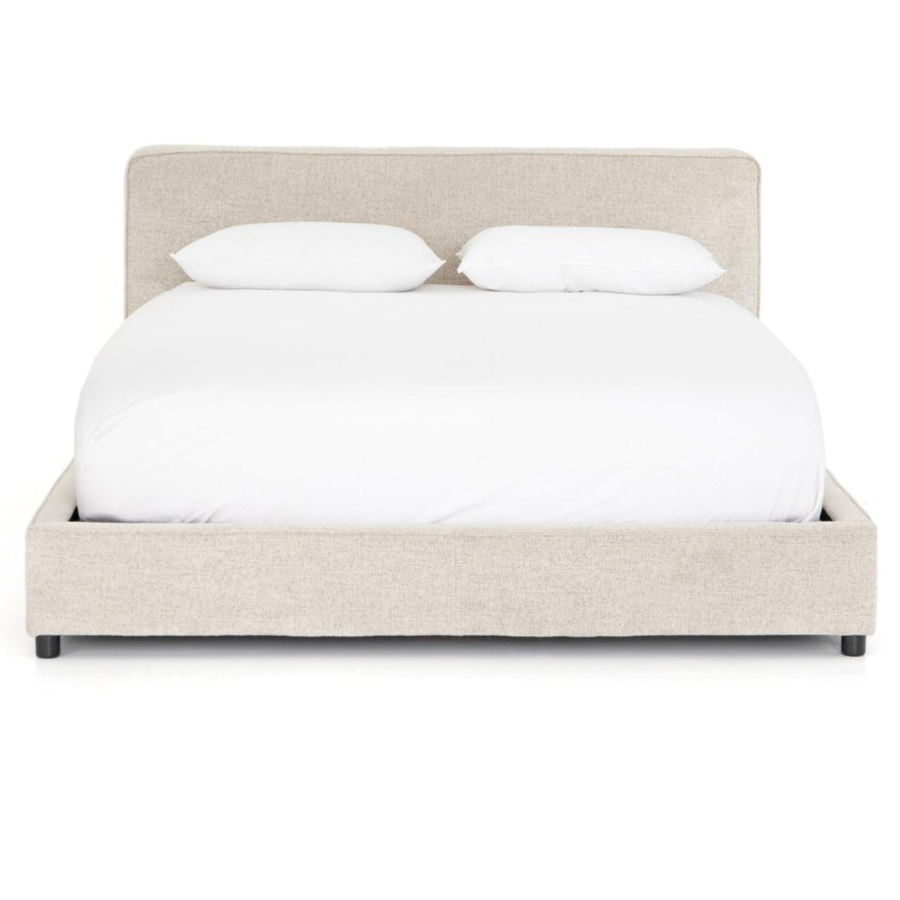 Aidan Low Profile Upholstered King Platform Bed Frame Zin Home