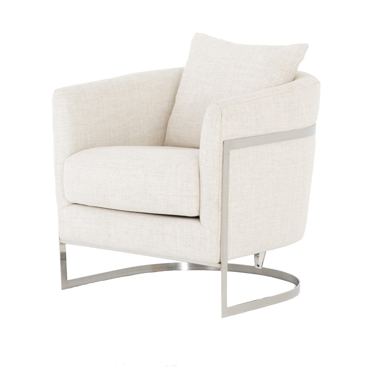 Amazing Liam Modern Cream Curved Club Chair Inzonedesignstudio Interior Chair Design Inzonedesignstudiocom