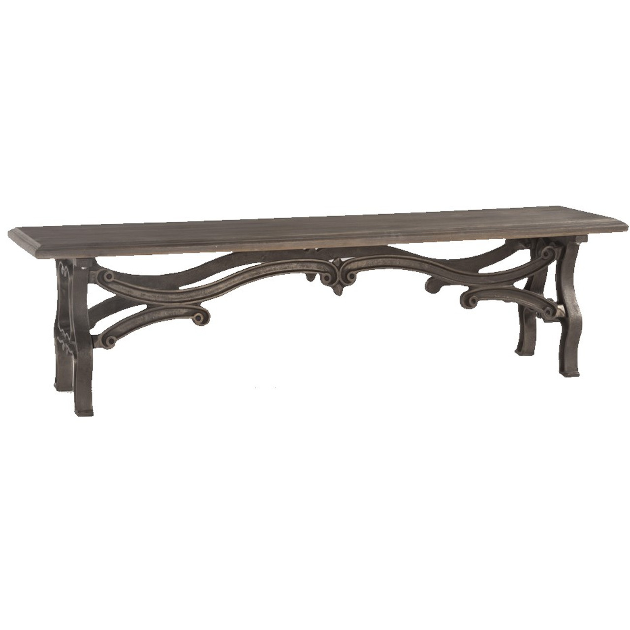 Swell Hobbs Dutch Industrial Iron Wood Dining Bench Pabps2019 Chair Design Images Pabps2019Com