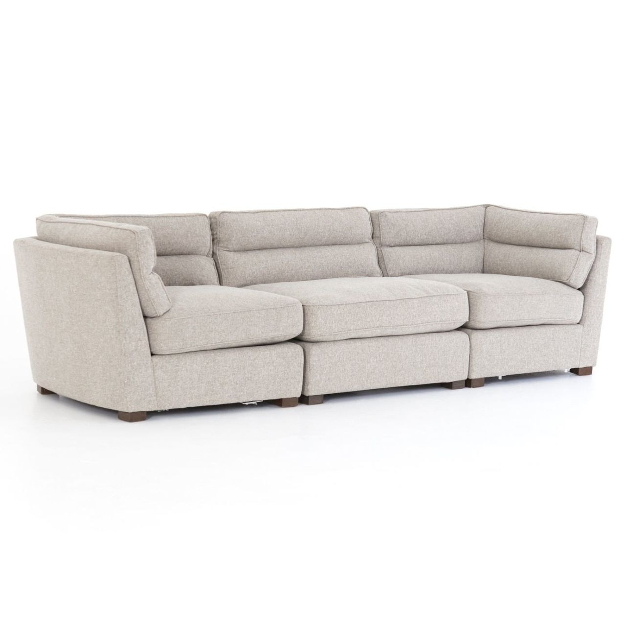 Connell Channel Back 3 Pc Modular Sofa 114