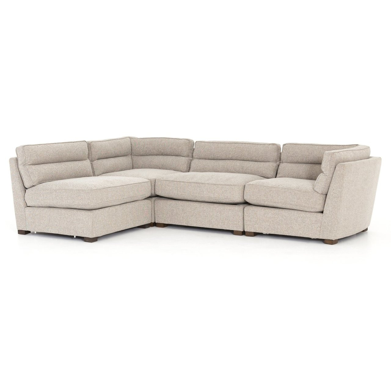 Connell Channel Back 4 Pc Modular Sectional Sofa