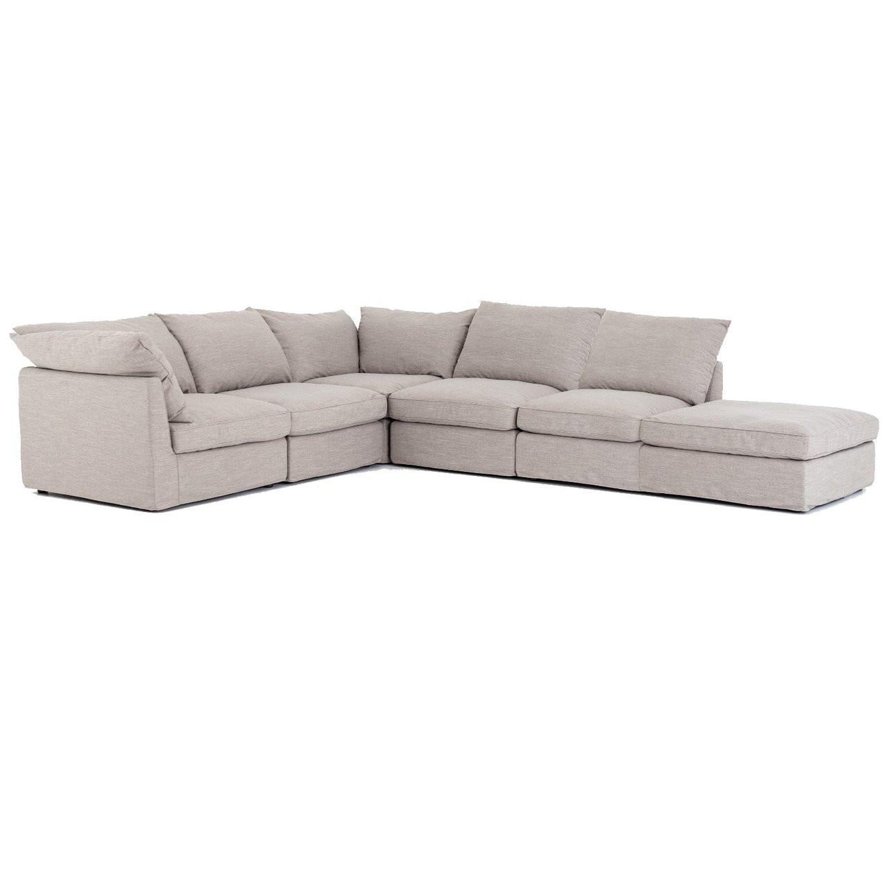 Paul Coastal Grey 6-Piece Modular Sectional Sofa