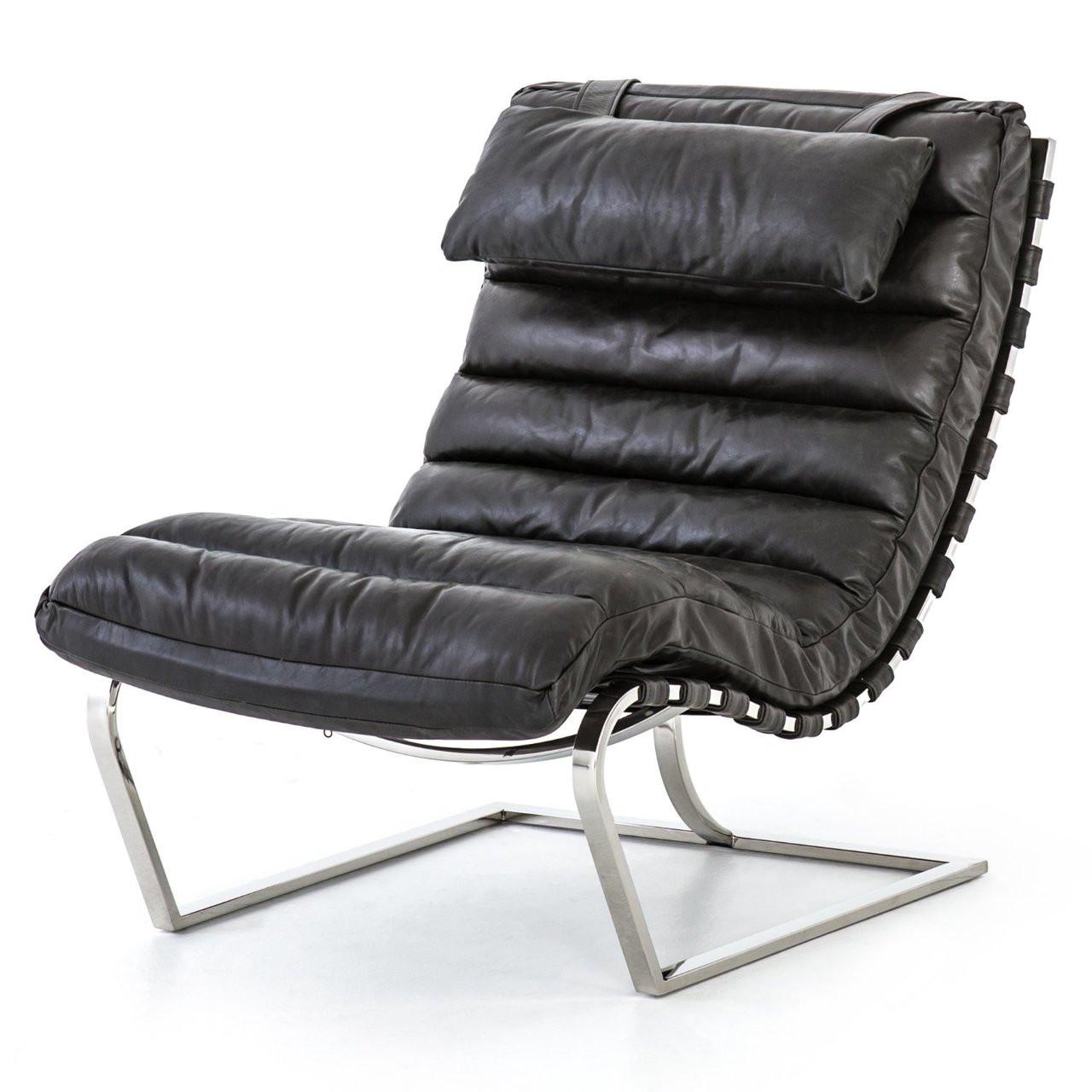 Ebony Leather ChairZin Goodwyn Fourhands Home Lounge Mr SUzMGVqp