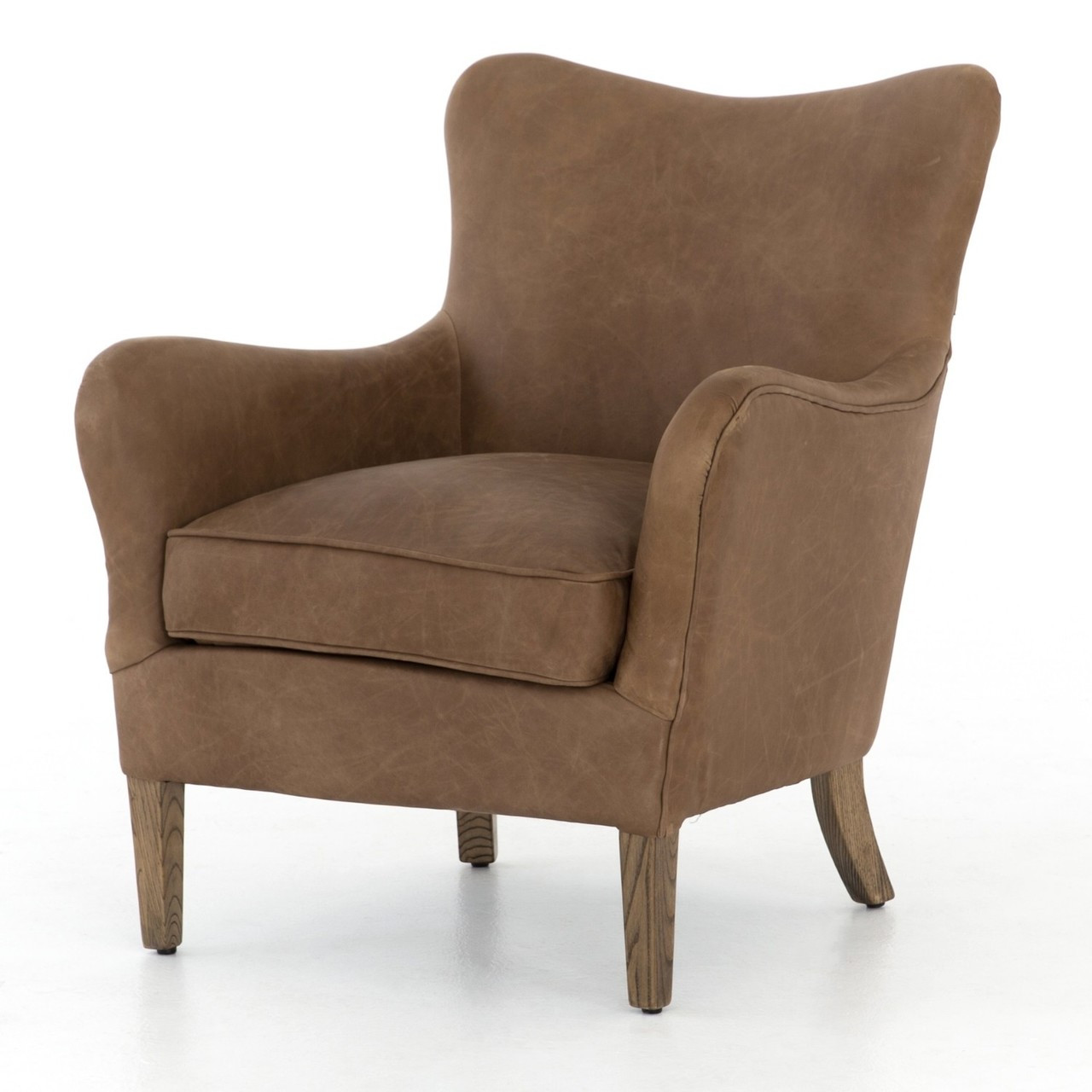 Desmond Wingback Leather Chair