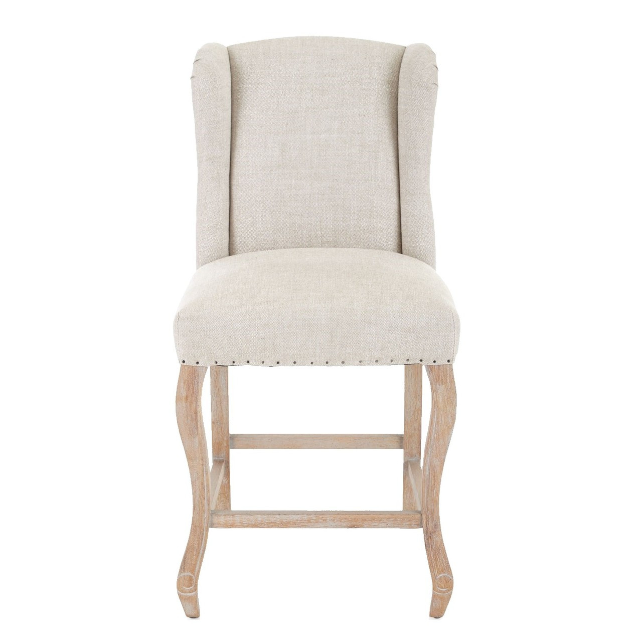 Astounding Rosemary Beige Belgian Linen Counter Stool Gmtry Best Dining Table And Chair Ideas Images Gmtryco