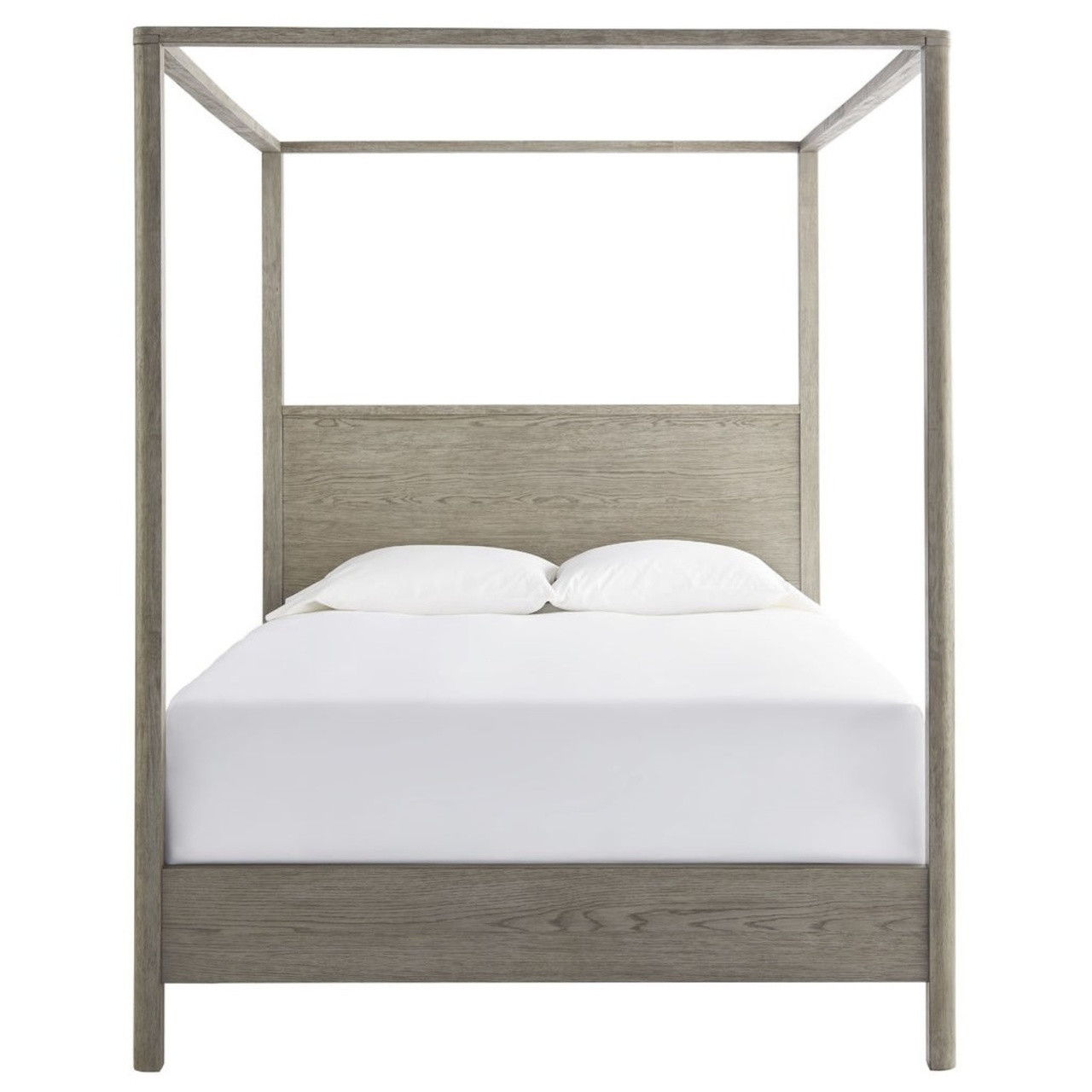 - Gabby Modern Oak Queen Canopy Bed Zin Home
