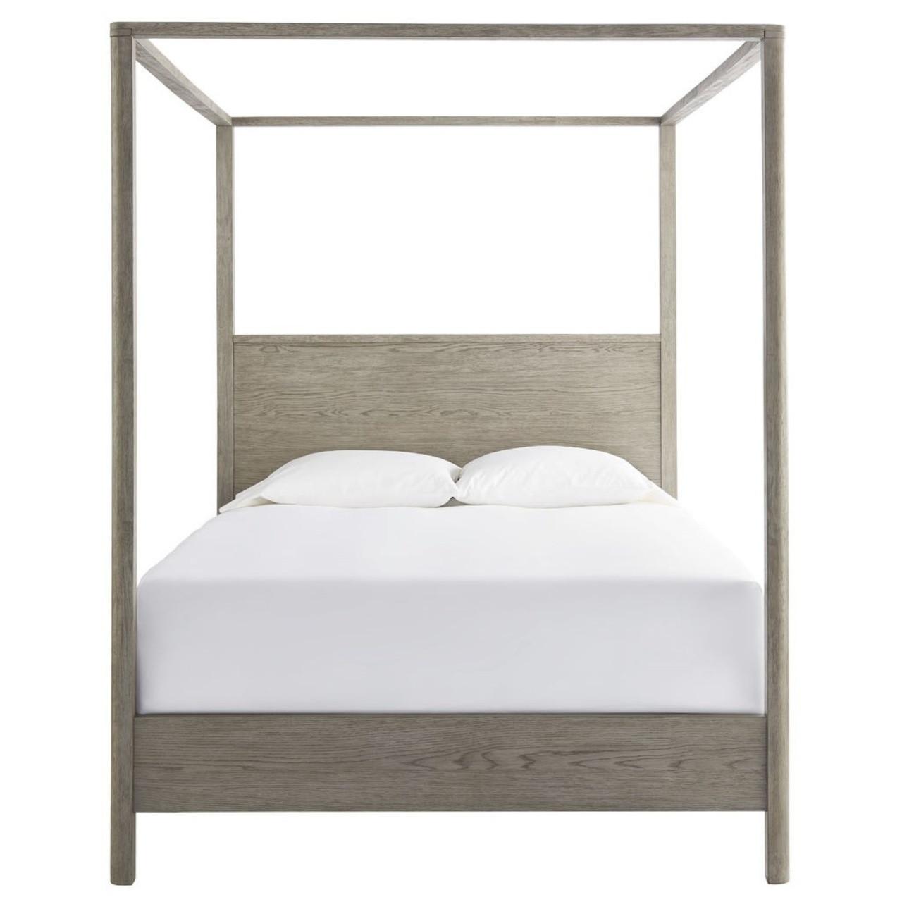Gabby Modern Oak Queen Canopy Bed Zin Home