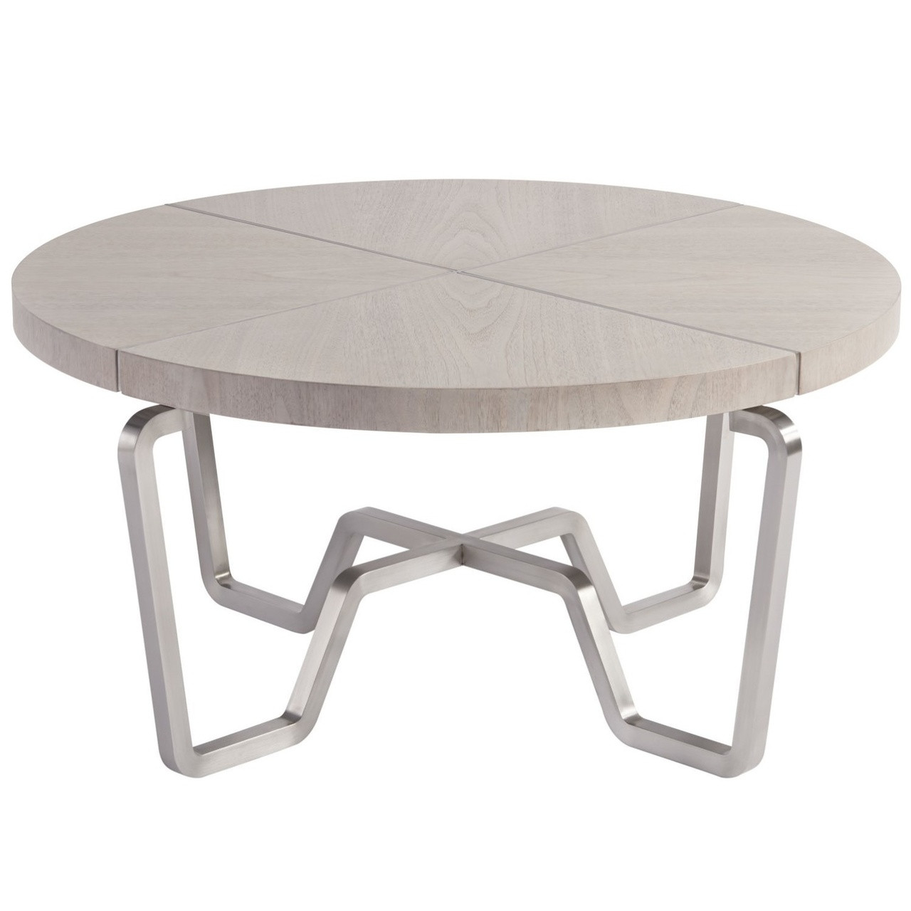 Urban Modern Mist Gray Round Coffee Table 36 Zin Home