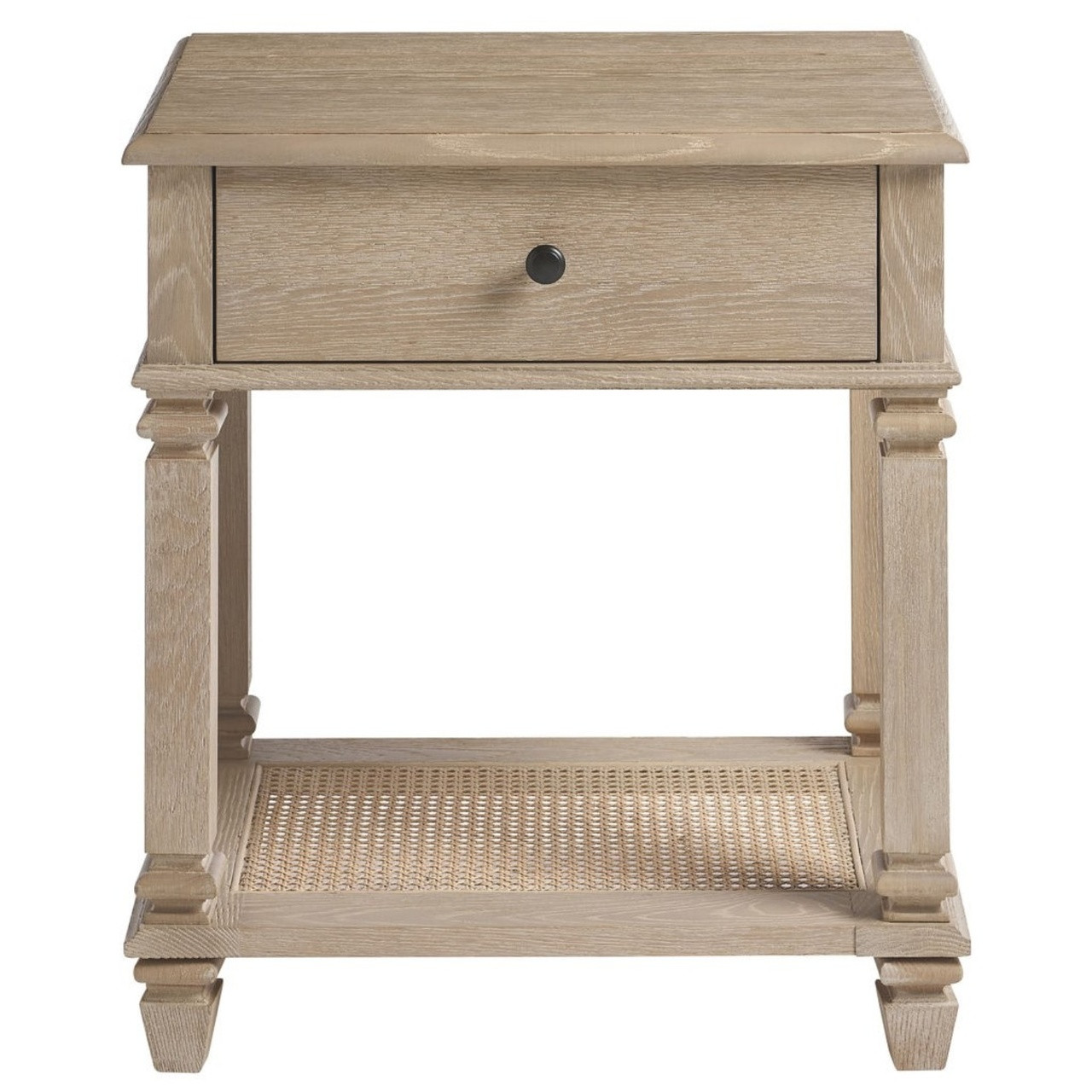 Antibes Oak Wood 1 Drawer Nightstand