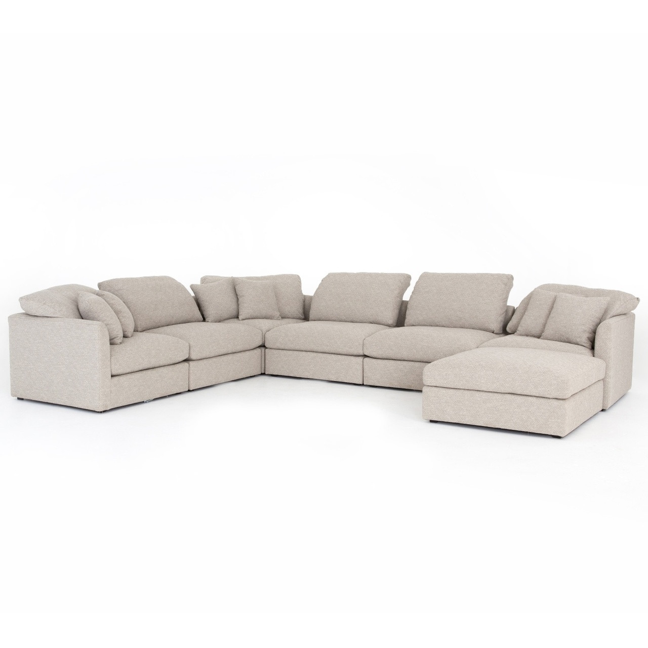 Astonishing Ingrid Natural Upholstered 7 Pc Modular U Sofa Sectional Ocoug Best Dining Table And Chair Ideas Images Ocougorg