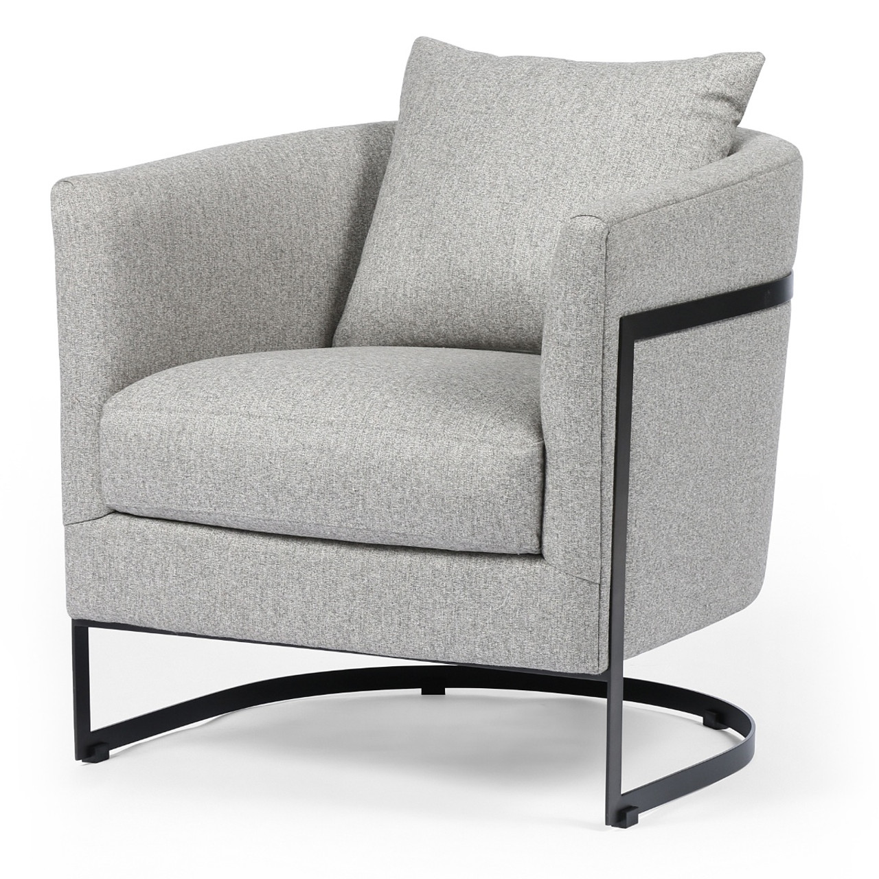 Liam Modern Grey Curved Club Chair  sc 1 st  Zin Home & Liam Modern Grey Curved Club Chair | Zin Home