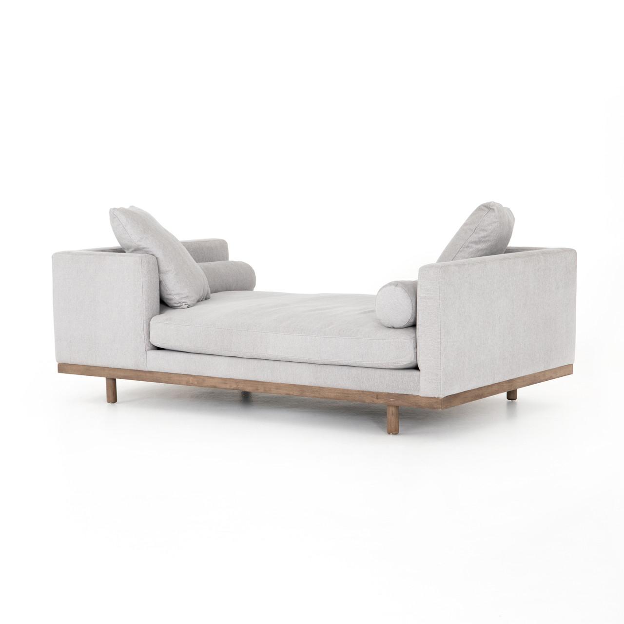 - Brady Tete A Tete Light Grey Double Chaise Lounge 85