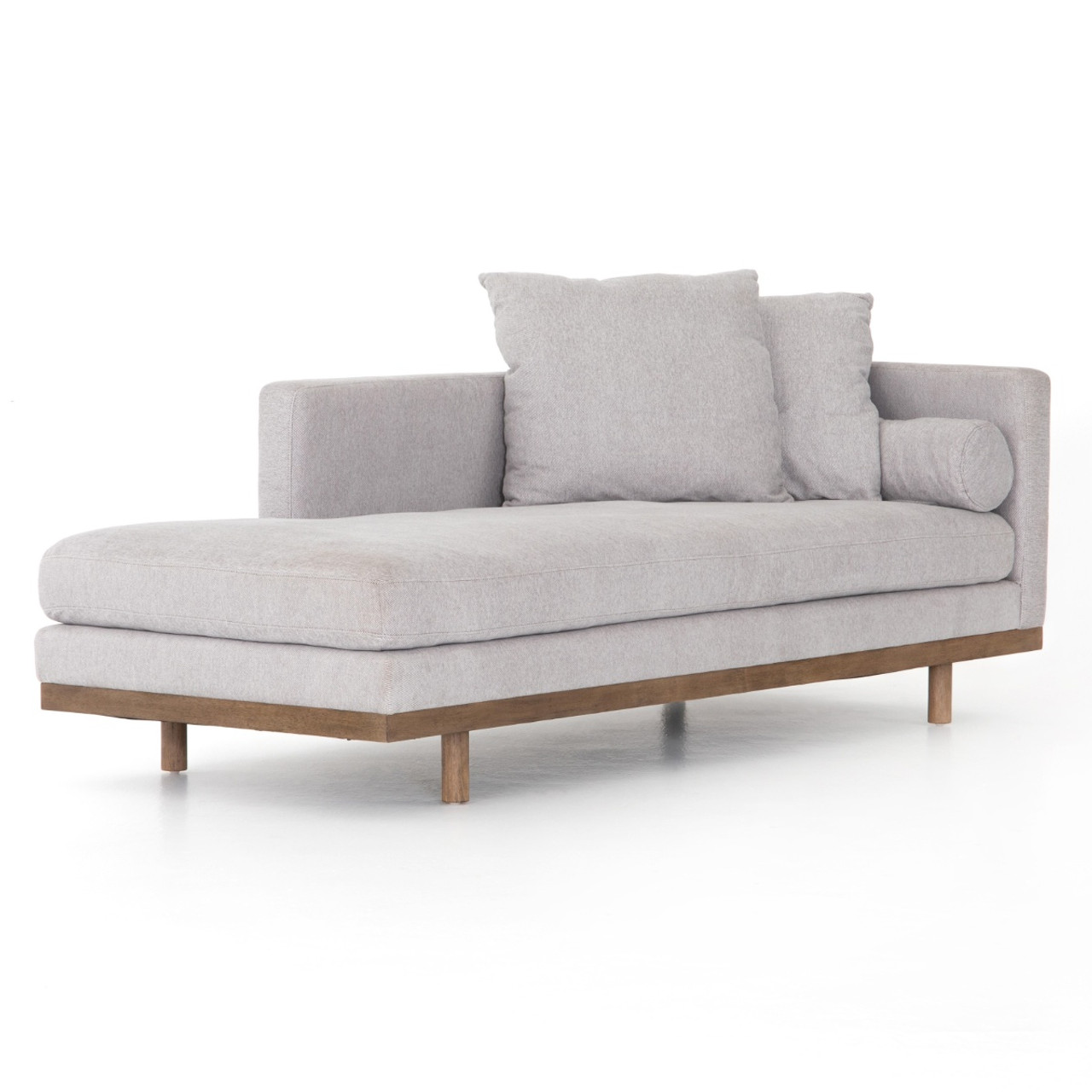 Brady Light Grey Single Chaise Lounge 85\
