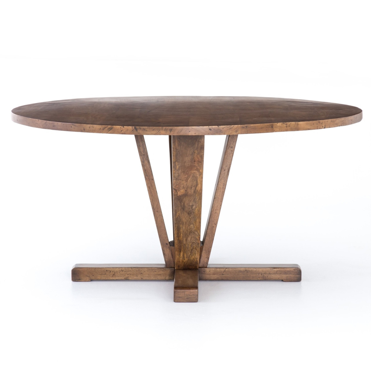 Cobain Reclaimed Wood Round Dining Table 60\