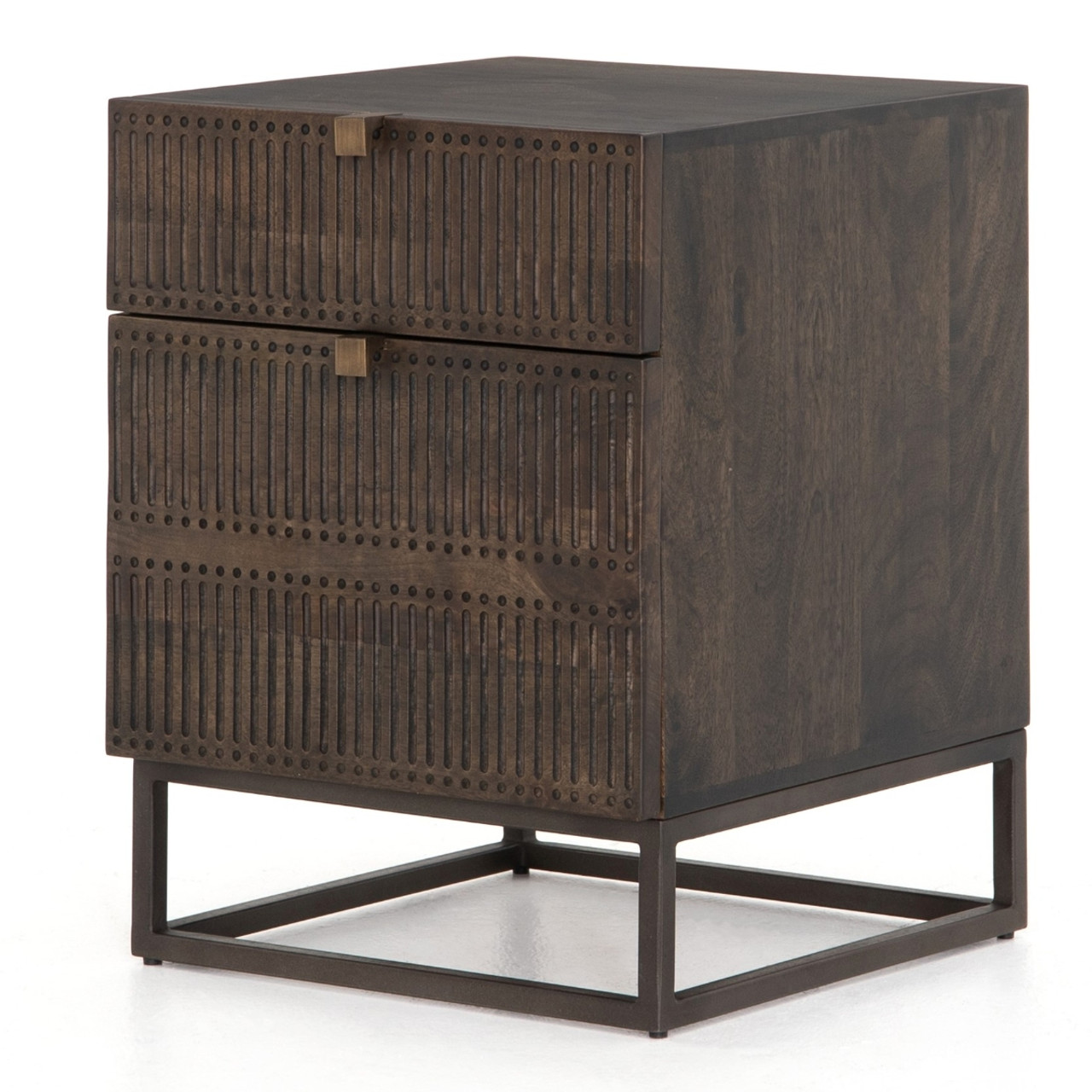 Picture of: Kelby Wood And Iron 2 Drawer Filing Cabinet Zin Home