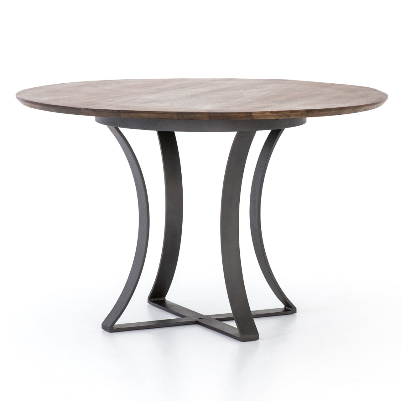 Gage Reclaimed Wood Iron Round Dining Table 48 Zin Home