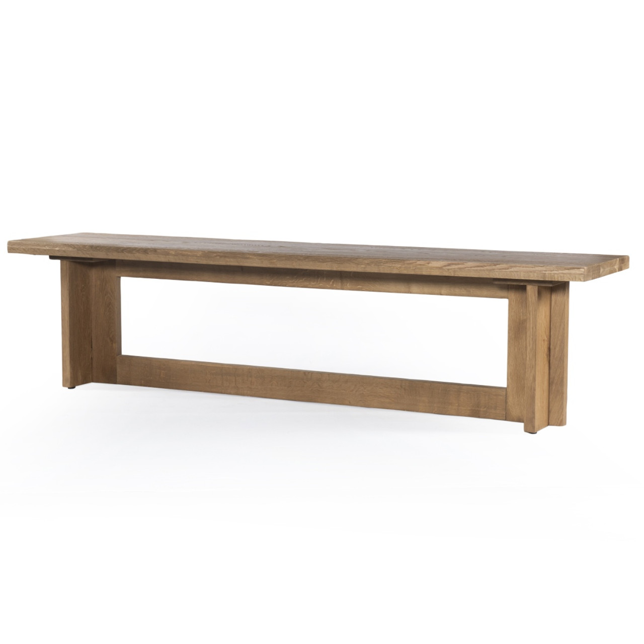 Admirable Erie Oak Wood Modern Trestle Dining Bench 81 Gmtry Best Dining Table And Chair Ideas Images Gmtryco