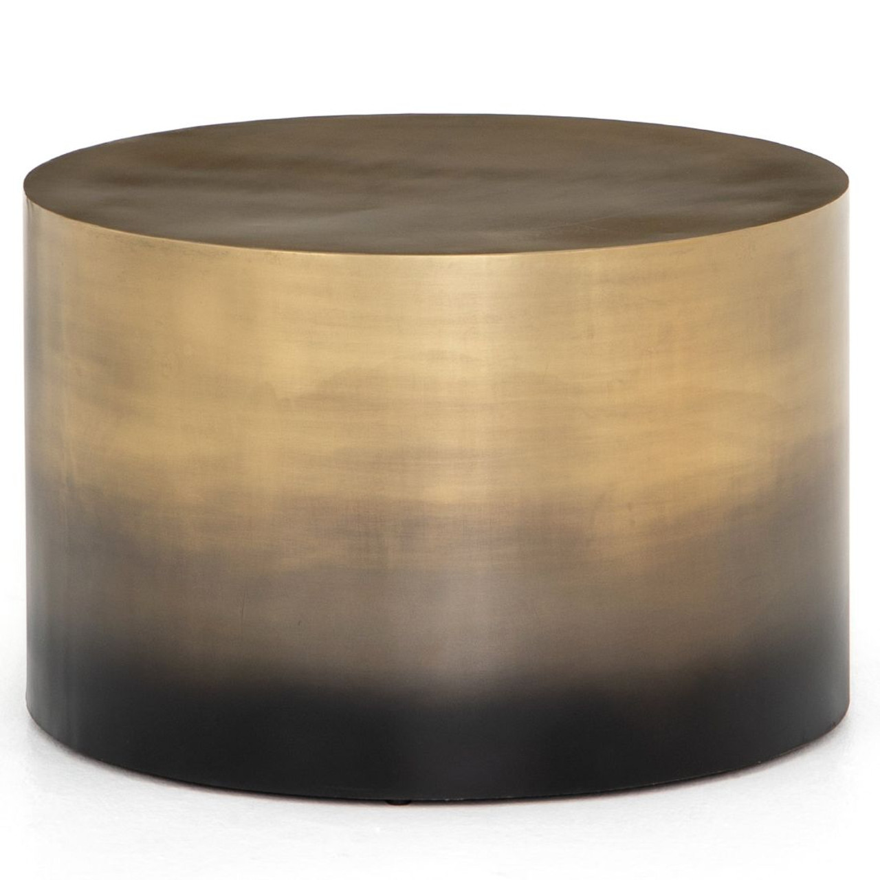 Cameron Brass Ombre Bunching Drum Coffee Table 25 Zin Home