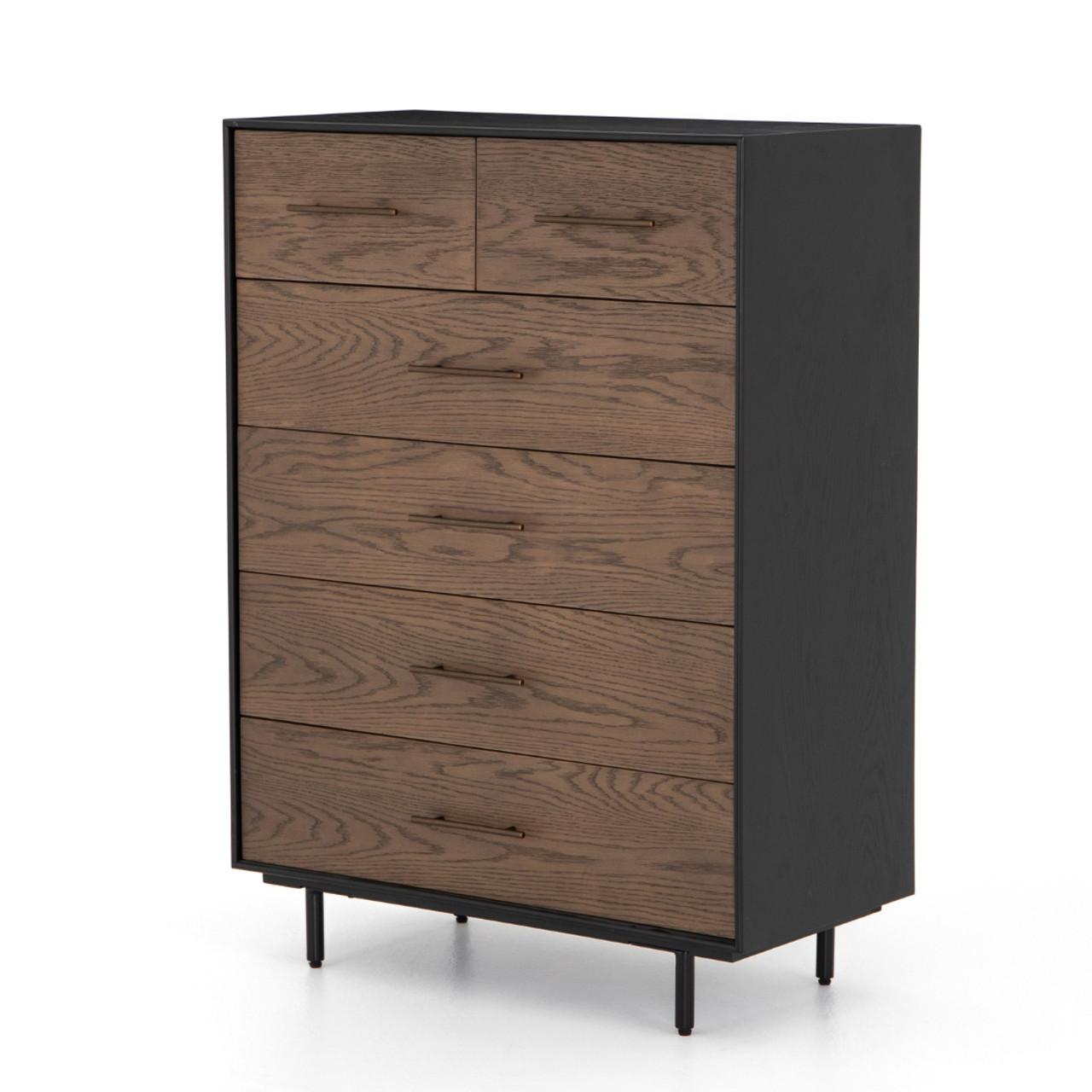 Modern Chest of Drawers, Dresser of Drawers Oak Chest of Drawers Black Chest of Drawers