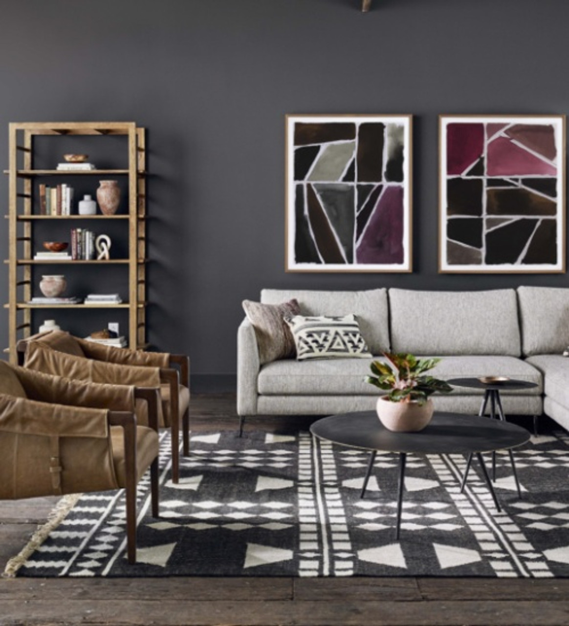 Shop The Look: Artisan Eclectic Loft Living Room