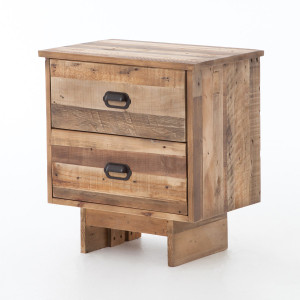 Angora Reclaimed Wood 2 Drawer Nightstand