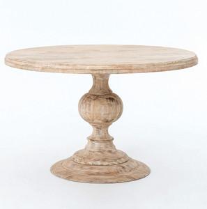 "48"" Round Pedestal Dining Table - Whitewash"