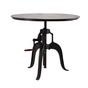 """Adjustable Height Crank Dining Table 36"""""""