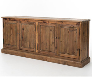 Salvaged Wood 4 Door Buffet Sideboard