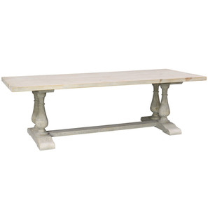 Chateau Reclaimed Wood Double Trestle Dining Table 98""