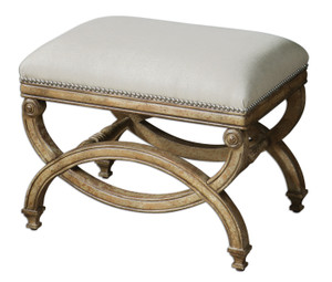 Karline Small Linen Upholstered Bench