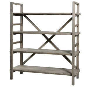 Farmhouse Baker Rack Bookshelf
