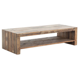 """Angora Natural Reclaimed Wood Coffee Table 48"""""""