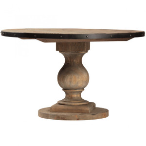Farmhouse Round Pedestal Table 51""