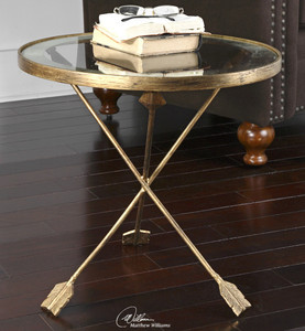 Aero Gold Leaf Side Table