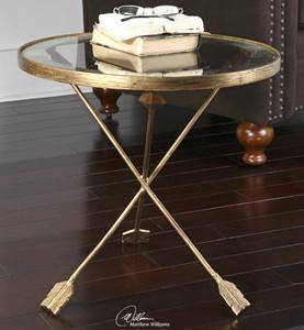 Aero Gold Leaf Side Table